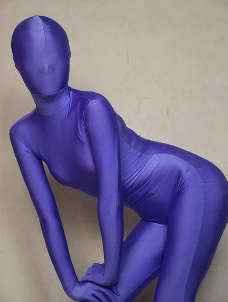 Hot Selling Uniclolor Spandex Lycra Full Body Purple Zentai Suit Free Shipping
