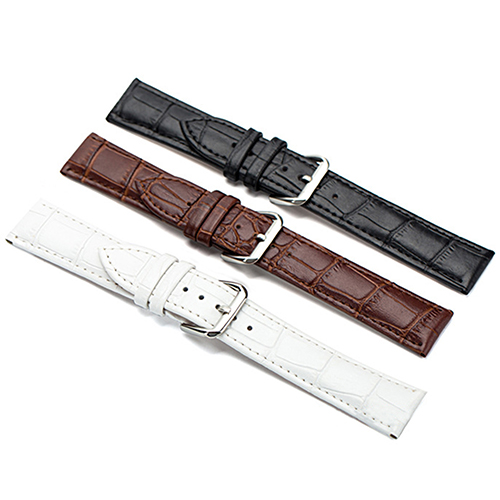 Women's Men's Unisex Faux Leather Watch Strap Buckle Band Black Brown White High Quality New 9LTD