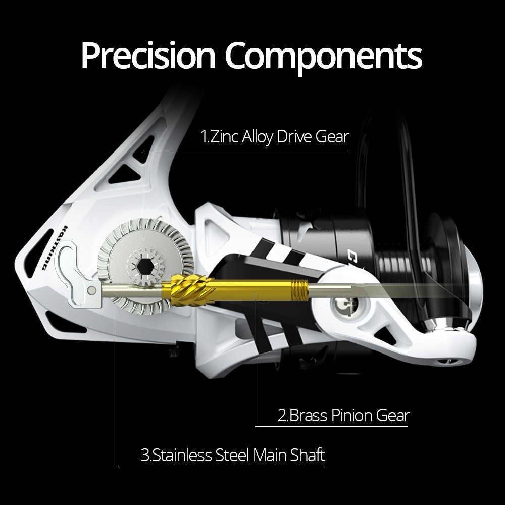 KastKing Crixus moulinet de pêche 5.2: 1/4. 5:1 haute vitesse rapport de vitesse Super léger Graphite corps carpe bobine de pêche