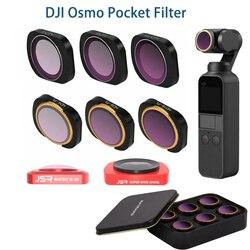 For DJI osmo pocket/DJI Pocket 2 Filter ND CPL Filters Kit Osmo Pocket Accessories polar ND4 8 16 32 UV OsmoPocket Filters