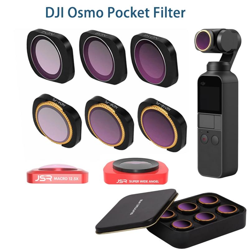 Para dji osmo filtro de bolso nd cpl filtros kit acessórios bolso osmo polar nd4 8 16 32 filtros de bolso uv osmo
