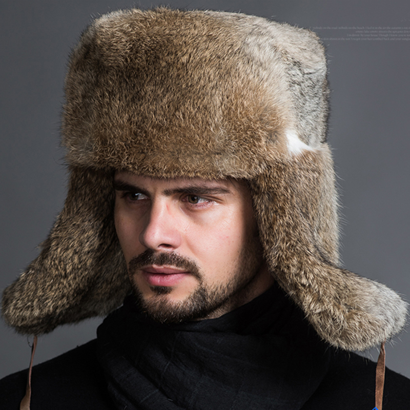 2019 Mode Faroonee 2018 Männlichen Männer Der Winter Warme Fell Bomber Hüte Schwarz Braun Solide Verdicken Earflap Caps Leifeng Schnee Hüte Ohr Wärmer S4447 Warm Und Winddicht