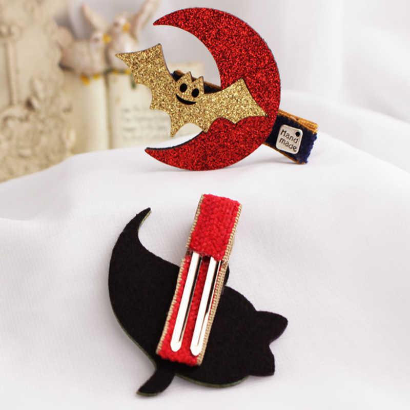 Быстро раскупаемый 1 шт. забавные «летучая мышь» на Хэллоуин вечерние украшение для костюмированного представления Для детей волос зажим, аксессуар для волос