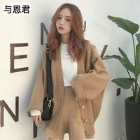 2018 Thick Knit Cardigan Ladies Sweater Coat