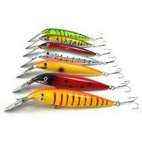 7pcs Set 14cm 16 2g Metal Mouth Minow Fishing Lures Crankbait Sinking Diving Swim Bait Hard