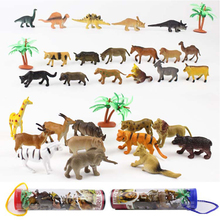 12pcs/set Plastic Animal Model Mini Dinosaurs Land Ocean Animals Educational Model Toys For Children Gifts 8pcs set simulation solid dinosaur toys pvc collecta dinosaurs figures oviraptor pteranodon animals model toys for boys gifts