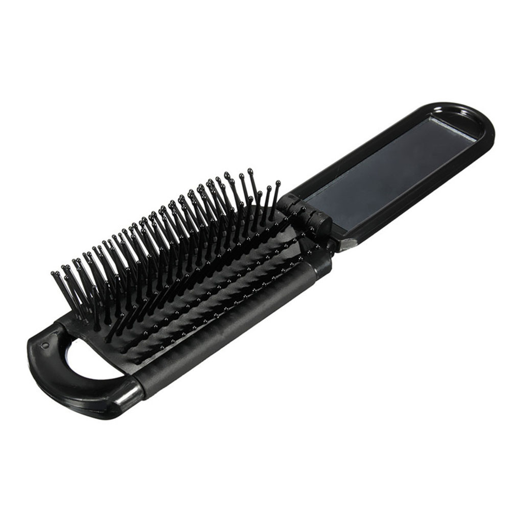 ISKYBOB  1Pc Hair Comb Handy Travel Antistatic Hairbrush Folding Travel Combs Portable Tools Travel Accessories