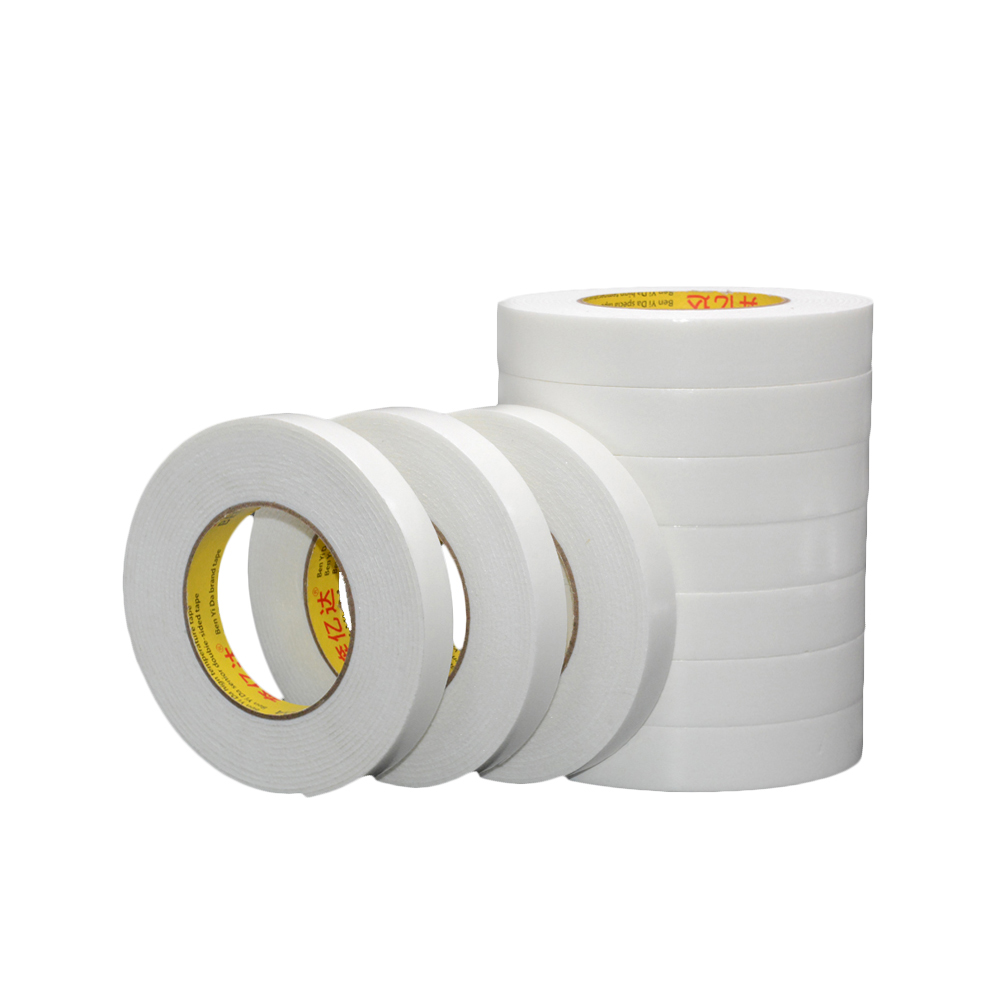 3M-5M White Super Strong Double-Sided Adhesive Tape Foam Self-Adhesive Pad 10MM-100MM Shockproof Office Foam Hot Melt Foam Tape