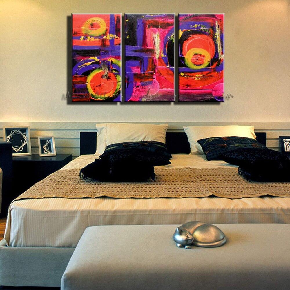 3 piece muti panel Abstract modern canvas wall art decorative font b knife b font handmade