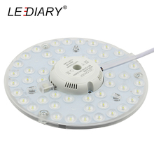 LEDIARY Bright 2D Replaceable LED Light Source For European Ceiling Lamp Marked 24W 220V With Magnet Led Lights Replacement PCB(China)
