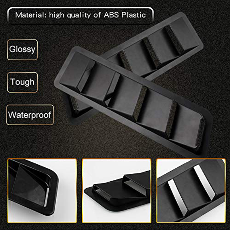 2PCS Hood Vent Air Flow Intake Side Scoop Hood Cover Car Decorative ABS Universal Fitment for Car SUV Truck Black in Car Stickers from Automobiles Motorcycles