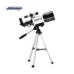 AOMEKIE F30070M Lua Espaço Telescópio Astronômico com Tripé Finderscope Terrestre Assistindo Telescópio Monocular para Iniciante