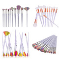 10 pcs/7 pcs/5 pcs Helical shape Makeup Brush Set MULTIPURPOSE Professional Foundation Powder Brush Kit