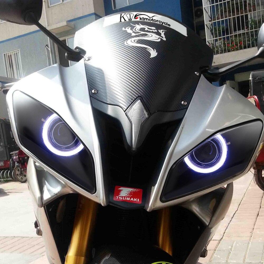 KT Headlight for Yamaha YZF R6 2008 2016 LED Angel Halo Eye ...