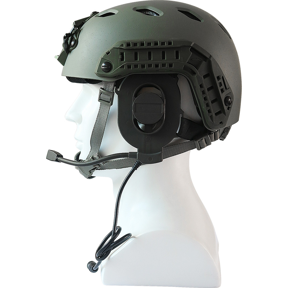 Купить с кэшбэком Tactical Airsoft Bowman Elite II Headset Unilateral Headphone  Adjustable Harness Military Earnuffs Fit All PTT Plug