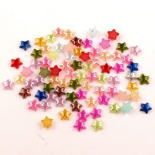 1000Pcs Mixed Stars Craft ABS Resin Half Pearls Flatback Cabochon Beads For Cloth Needlework DIY Scrapbooking Decoration(China)