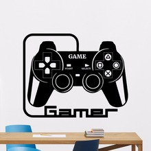 Gamer Wall Decal Removable Video Games Vinyl Sticker Home Playroom Decor Gamepad Art Mural Style Wallpaper AY0172