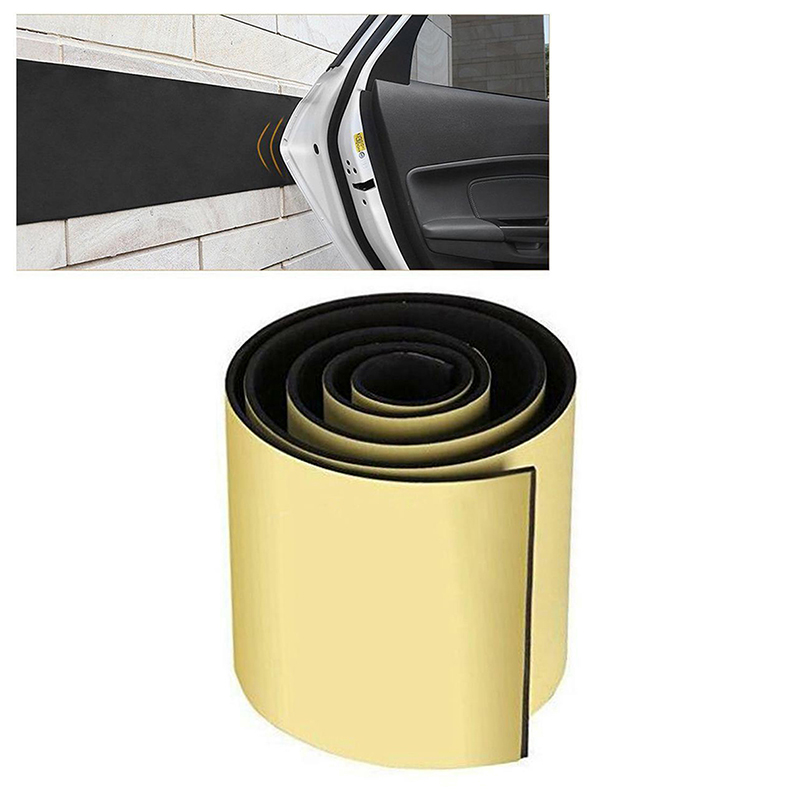 250x20cm Car Door Protector Garage Rubber Wall Safety Guard Bumper Sticker high quality black Styling Mouldings accessories in Styling Mouldings from Automobiles Motorcycles