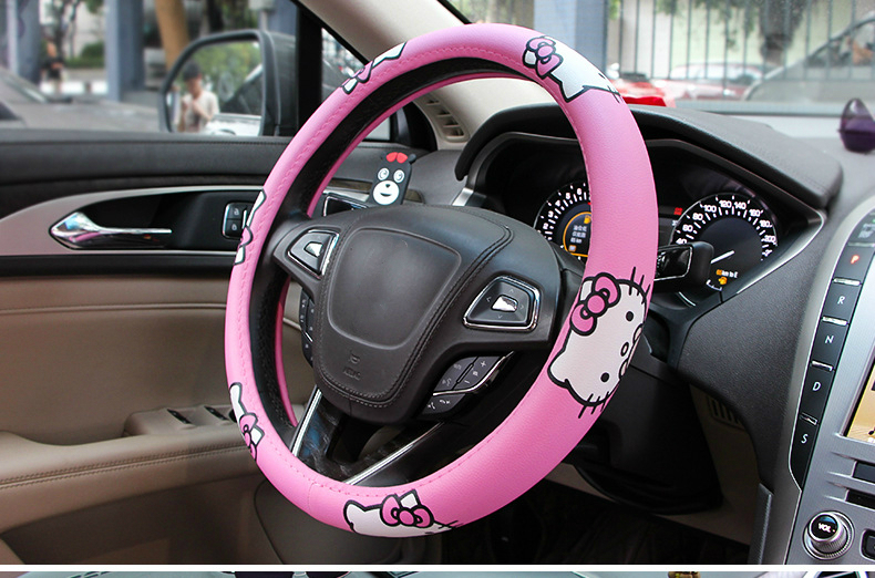 capa de roda de carro rosa acessórios do carro