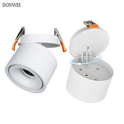DONWEI 5 W 7 W 10 W 12 W светодиодный потолочный светильник поворотный складной светодиодный блок светодиодов точечных светильники потолочный