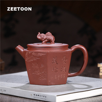 350cc Authentic Yixing Teapot Zhen Liufang Pot Chinese Health Care Purple Clay Tea Pot Tea Set Teaware Vintage Zisha Home Decor