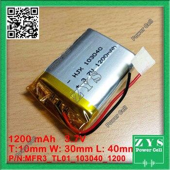 7 V | 1 Pz. Batteria 3.7 V 1200 MAh Li-ion Ricaricabile 3.7 V 1200 Mah Dimensioni: 10x30x40mm