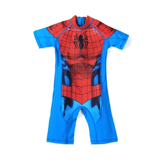 4640ed2b7bc3a Protection Baby Beachwear Superhero Spiderman Costume Boys One Piece  Swimsuit Kids Captain America Children s Swimwear