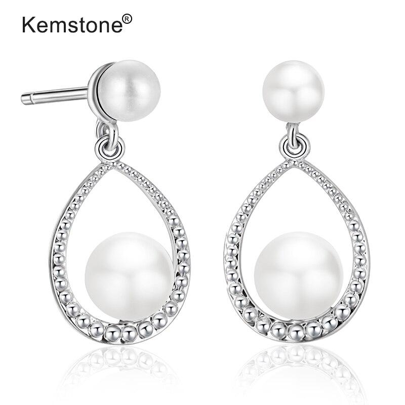 Long 925 Sterling Silver Ball Bead Oval Drop Earrings in a Gift Box