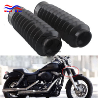Motorcycle Rubber Front Fork Dust Cover Gaiters Gators Boots Shock Absorber 49MM For Harley Dyna FXDWG 2007 2008 2010 2011