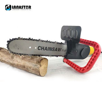 Electric Saw Upgrade 11.5 Inch Chainsaw Bracket Set For 100mm / 115mm Angle Grinder DIY Into Chain Saw Woodworking Tools