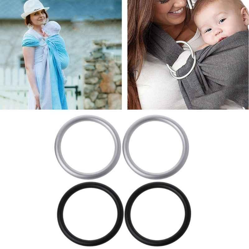 ใหม่ 2Pcs 2 นิ้วเด็ก Carrier อลูมิเนียมแหวนสลิงคุณภาพสูงผู้ให้บริการทารกอุปกรณ์เสริม