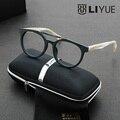 Armações de óculos vintage moda óculos limpar óculos óptica óculos de armação 2016 óculos de armação de prescrição óculos de luxo 6606
