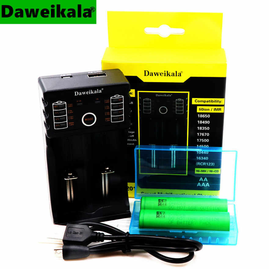 2PCS 18650 lithium ion rechargeable battery 30A discharge 3000mAh for Sony VTC6 tool electronic cigarette + 1 USB smart charger