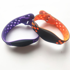 Image 3 - 125KHZ Read Only Adjustable Silicone Waterproof RFID Wristband Bracelet TK4100 ID Tags EM4100 Keyfobs Tag Token Band