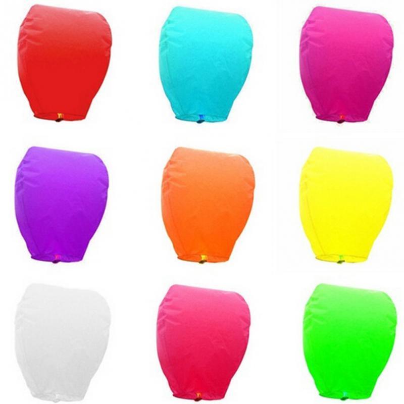 unidsset mini cielo linternas de papel chinas cielo globos para eventos festivos vela
