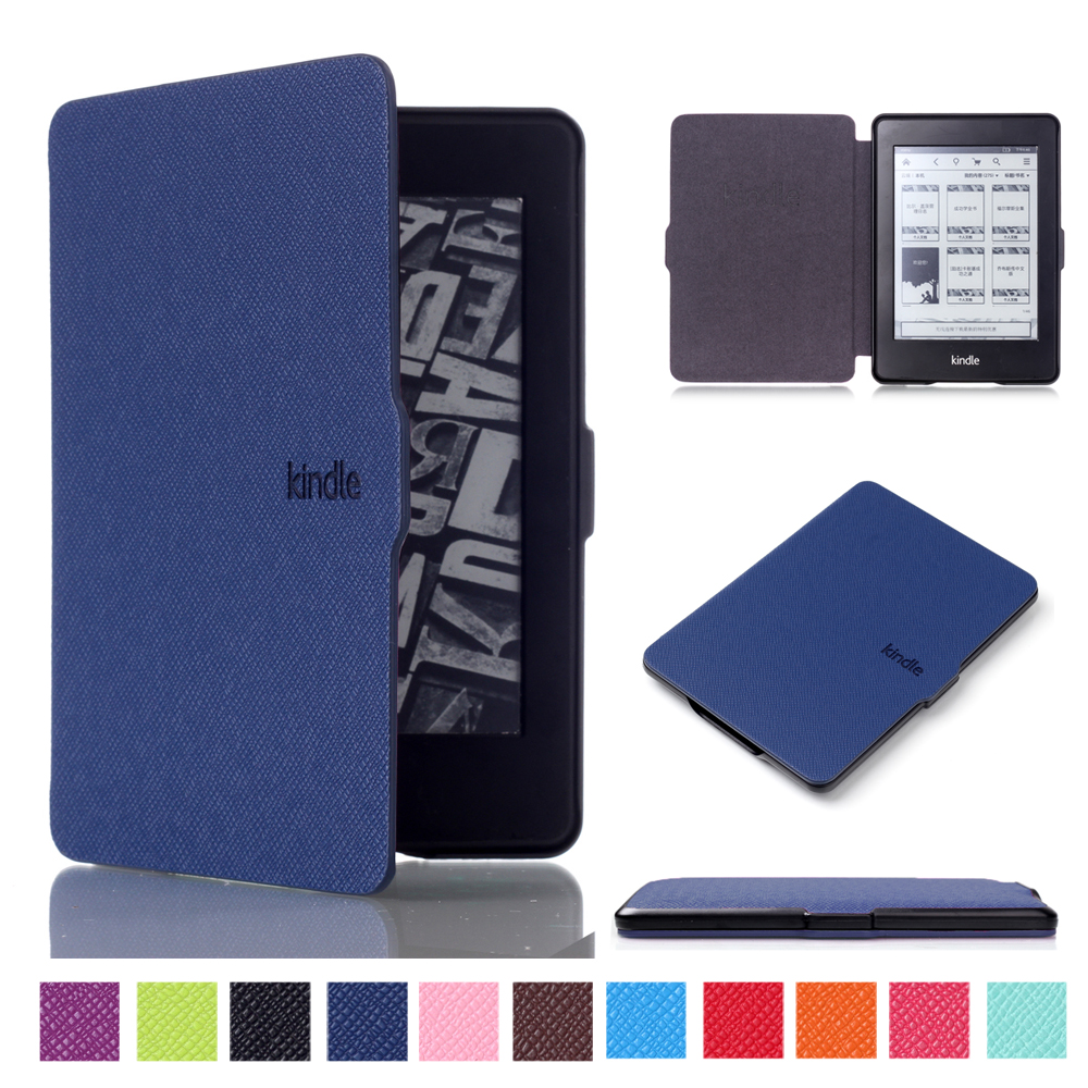 For Amazon Kindle Paperwhite 1 2 3 6 Ultra Slim Cover Case for Kindle Paperwhite 6 inch Tablet Shell With Sleep&Wake Up new cover for amazon kindle paperwhite slim pu flip leather case cover wake sleep function with pen high quality