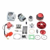 GOOFIT Cylinder Kit 19mm Carburetor Air Filter for 2 Stroke 47cc 49cc Pocket Bike Mini ATV Quad Group 119