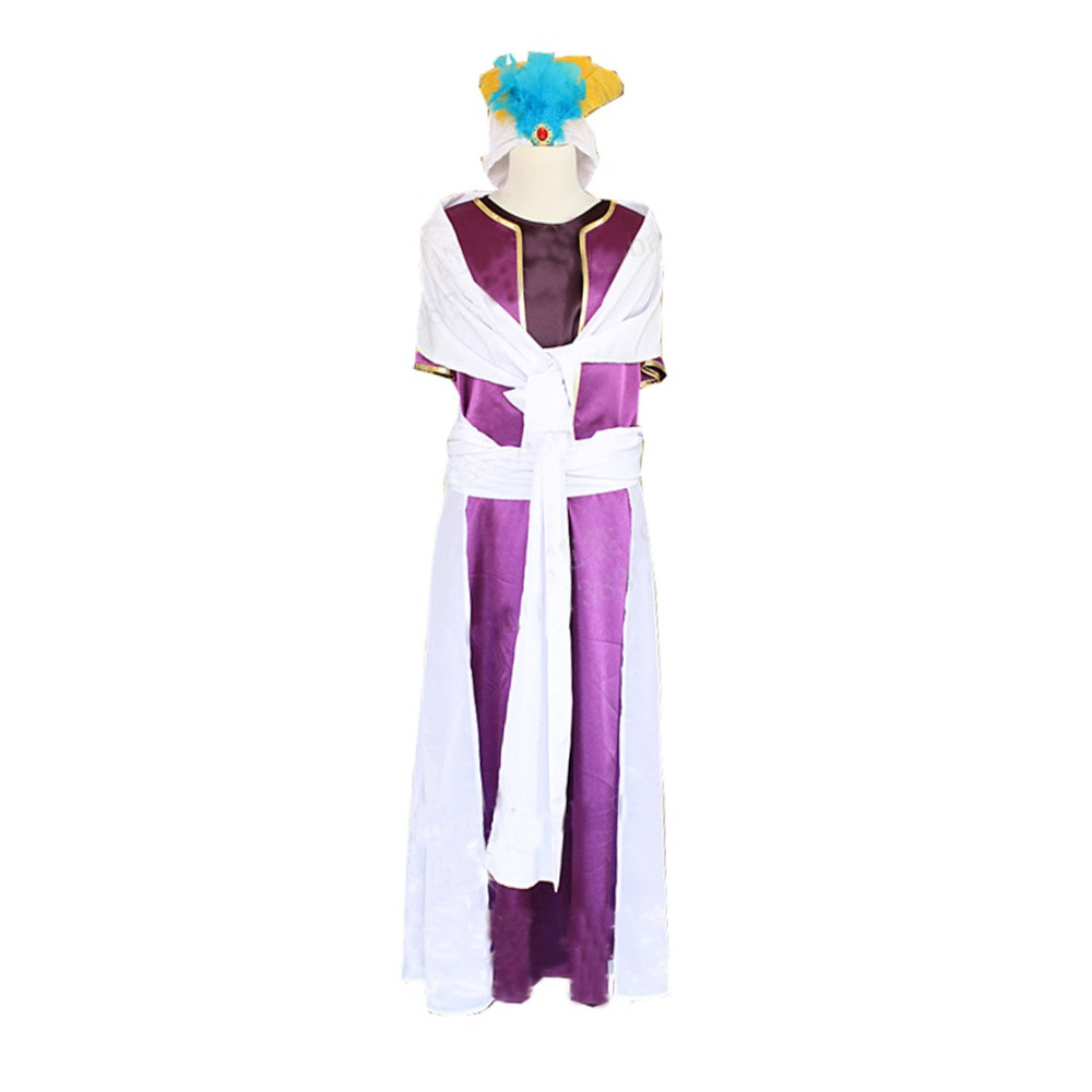 2017 Magi The Labyrinth of Magic Sinbad Cosplay Costume All Sizes No Accessory