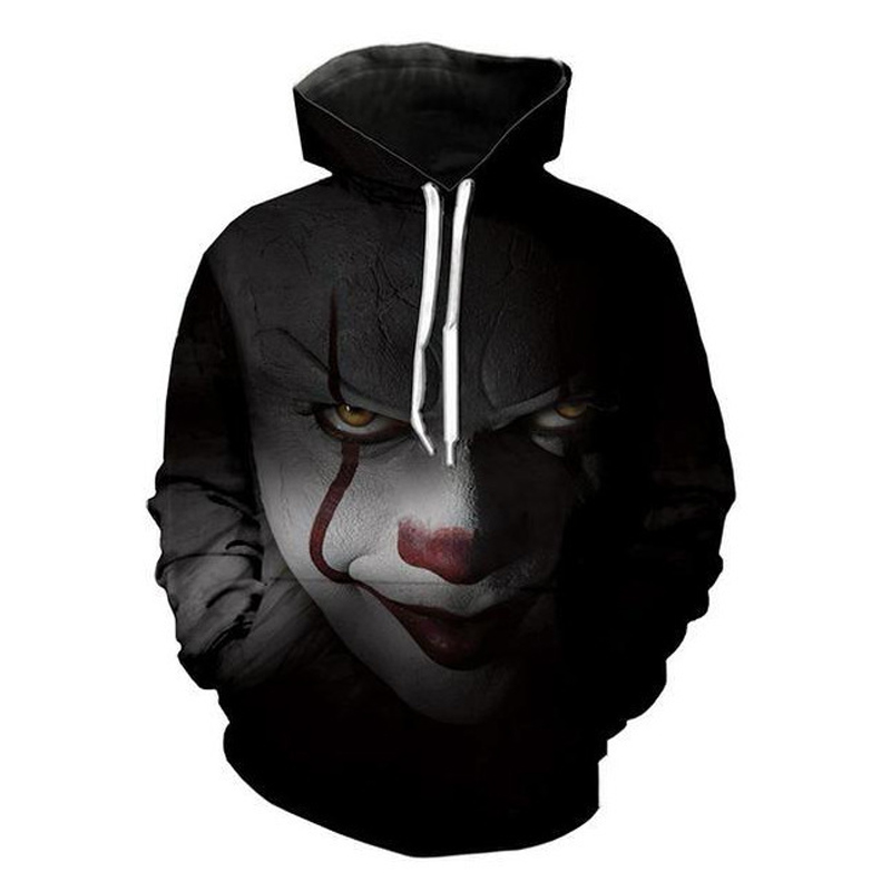 Movie Stephen King 39 s It Penny Wise Clown Print 3D Hoodie Men Hooded Sweatshirts Sudadera Hombre Boys Pullover Tracksuit Jacket in Hoodies amp Sweatshirts from Men 39 s Clothing