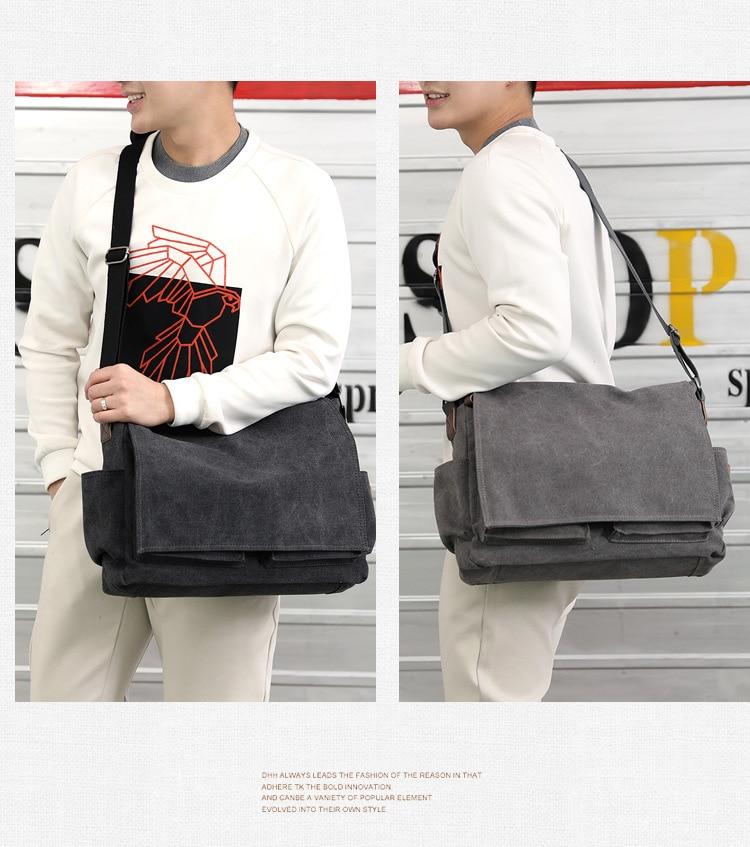 HTB1WlX3bynrK1Rjy1Xcq6yeDVXab 2019 Brand Designer Men's Briefcase Canvas Crossbody Bags for men 14 Inch Laptop Shoulder Bags Buisness Office Men Messenger Bag
