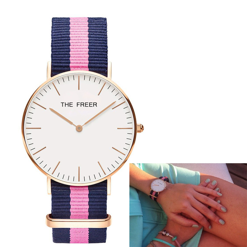 Classic Women Nylon Strap Watches Women Quartz Hour Clock Casual Sports Female Wrist Watch relojes mujer Femmes Horloge hot unique women watches crystal leather bracelet quartz wrist watch mujer relojes horloge femmes relogio drop shipping f25