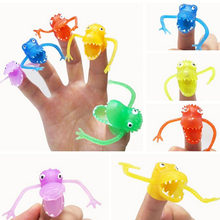 10Pcs Mini Dinosaur Toys With Small Finger Gashapon Toys Plastic Finger Puppet Story(China)