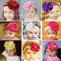 2017 Big Flower Baby Girl Hairbands Children Headband Kids Bandanas Elastic Hair bands Tiaras Barrettes Accessories Fashion H3