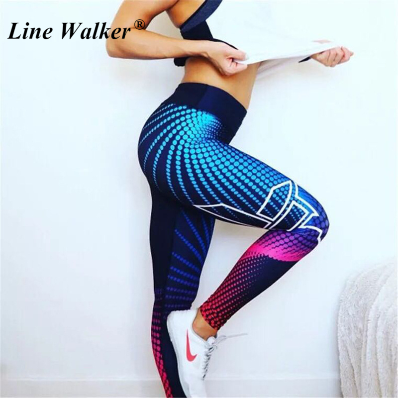 Line Walker High Waist yoga pants calzas deportivas mujer fitness gym leggings push up Sport fitness For Women Plus Size цена и фото