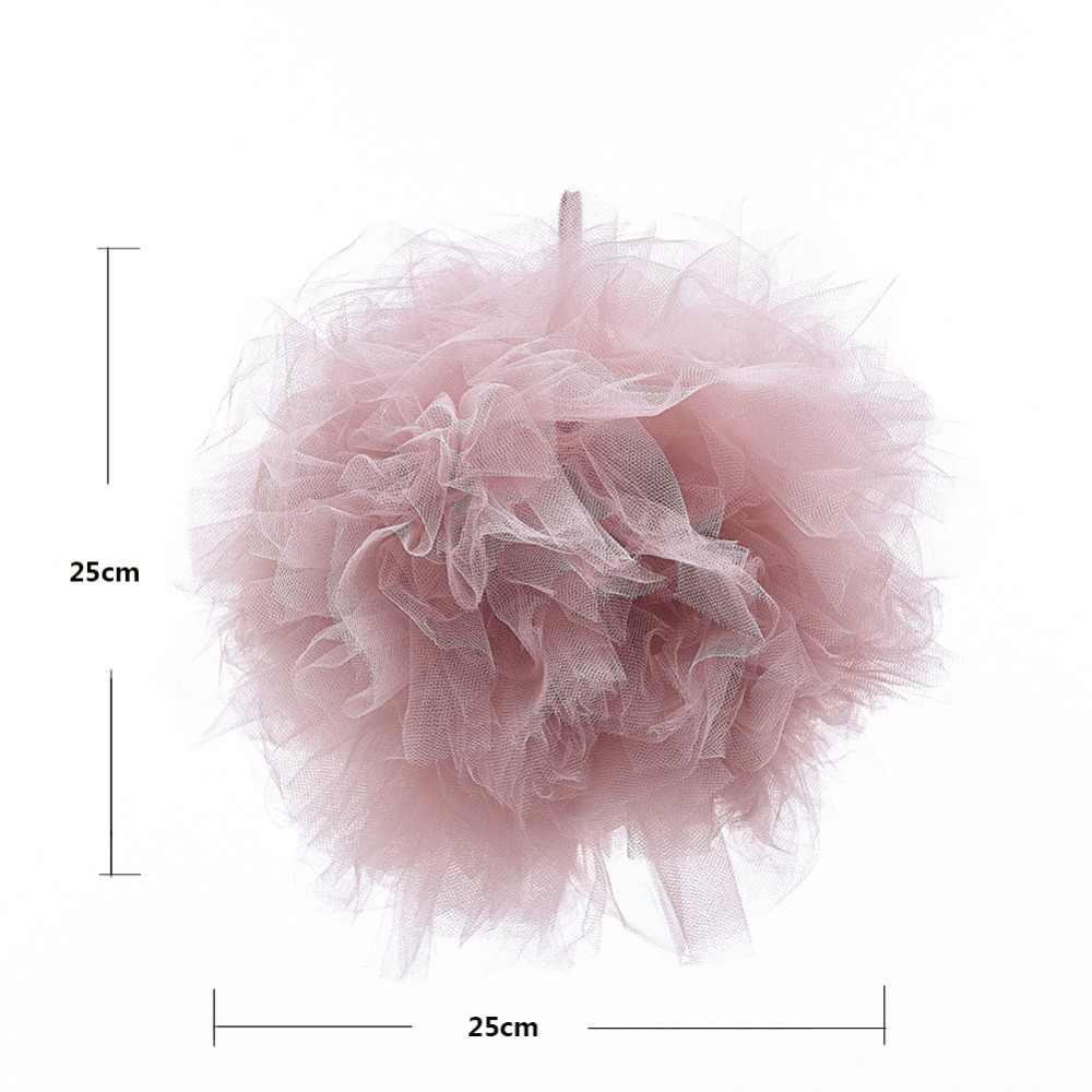 25 см Детские INS скандинавские москитные сетки большие плетеные Шарики Настенные украшения детской комнаты круглый шар лучшие подарки для детской кроватки реквизит для фотосъемки