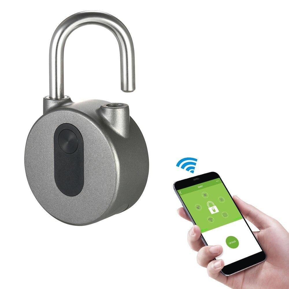 Verrouillage intelligent sans clé étanche APP bouton mot de passe déverrouiller antivol cadenas serrure de porte pour système Android iOS