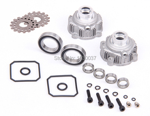 R/C racing car parts,Alloy Diff Gear Shell set for 1/5th RC Gas Model Car/for baja