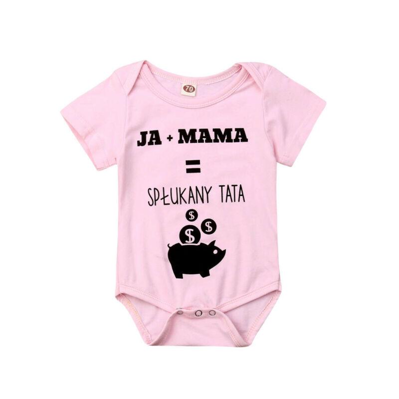 Infant Cartoon Bear Baby Clothes Girl&Boys Short Sleeve Daddy Mummy Baby   Rompers   Babygrow Sleepsuits Baby   Romper   0-18 Months