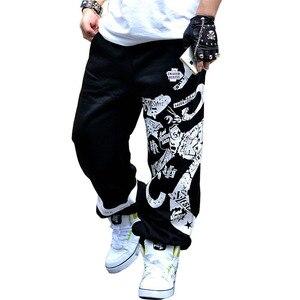 Image 1 - 2020 nowy wiosenna ulica bawełniane spodnie dresowe mężczyzn hiphopowe nadruki projektant spodnie do biegania mężczyzn