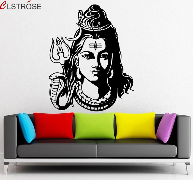 clstrose cheap price god shiva india hindu religion wall decal home